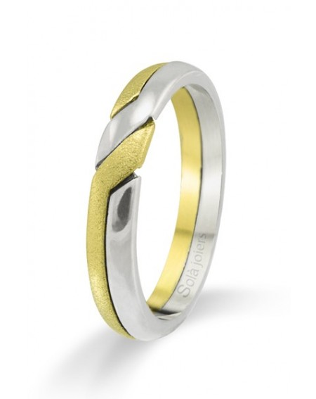 Colgante en oro blanco de 18k y siete diamantes